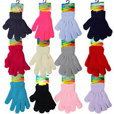 Kids Baby Gloves Pair Magic Winter Warm Girls Boys Stretch Soft Children Glove