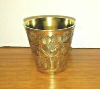 Brass Shot Glass Made in India Vintage