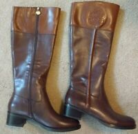 Franco Sarto 7 Women's Canyon Riding Brown Leather Boots