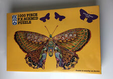Whimsical Butterfly Shaped 1000 Piece Jigsaw Puzzle F.X. Schmid New Sealed