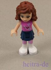 LEGO Friends-Olivia, gonna blu scuro, top rosa scuro/frnd 010 merce nuova (a9)