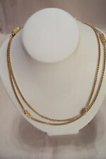 Goldtone Necklace Vintage Monet