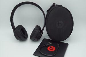Beats Solo3 Wireless On-Ear schwarz Kopfhörer Kopfbügel, Apple W1 Chip - wie Neu