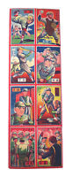 Vintage 1950s Uncut Baseball Menko Sheet of 8 Trading Cards Japan Nice Shape!