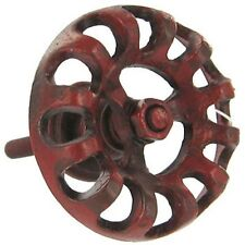 LOT 6 RED HYDRANT FAUCET DRAWER CABINET DOOR PULL KNOB INDUSTRIAL STEAMPUNK