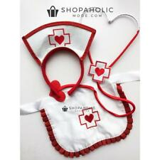 Nurse Fancy Dress Up Kit Costume Stethoscope Apron Headband