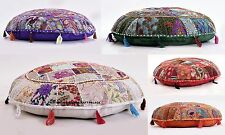 10 PC LOT Indian Handmade Floor Round Home Decor Pillow Vintage Patchwork Cover