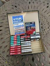 LOT Cassette Tapes TDK D60L UR60 D60 D90 MAXELL UR60 PANASONIC MC60