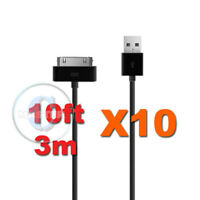 10X 10FT 3 METER EXTRA LONG USB CHARGE SYNC TRANSFER CABLE FOR APPLE iPAD 2 3