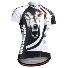 FIXGEAR womens cycling wolf jersey shortsleeve