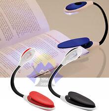 Clip LIBRO per LETTURA Lampadina LUCE Portatile Mini LIGHT Viaggio LED Lampada