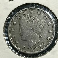 1905 LIBERTY NICKEL BETTER GRADE COIN