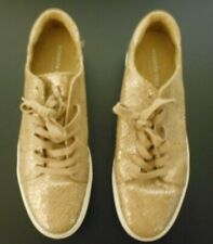 Kenneth Cole Womens Gold Glitter Size 11M Lace Up Sneaker Athletic Shoes