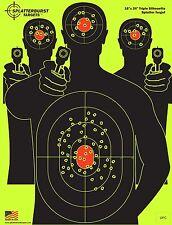 Splatter Target Burst Gun Rifle Shoot Predator Practice Range Firearm Impact LRG
