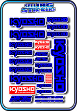 KYOSHO MODEL RC CAR DRONE BOAT BUGGY MINI Z STICKERS DECALS ROBOT R/C BLUE B