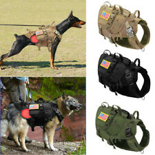 K9 Military Dog Harness Big MOLLE Working Vest with Pouch Bags Outdoor Adventure