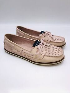 Sperry Women's Boat Shoe Moccasins Rose Pink Leather US 7.5M   #H-1