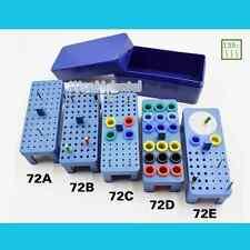 Dental Sterilize 72-Holes Endo Box for Diamond burs Reamer/Gutta Percha point