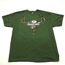 Mossy Oak Camouflage Logo Shirt Men's Size Xl 1X Adult Short Sleeve Olive Green