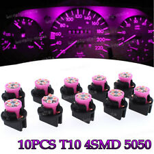 Pink Purple PC168 T10 Dashboard Dash Instrument Panel Cluster Led Light Bulbs