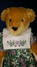 """Sale -Vtg. Vermont Teddy Bear Co.14"""" Mohair Bear made for stores only New -Le"""