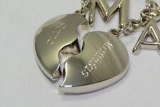 Partner Herz Schlüsselanhänger + Buchstaben Anhänger mit ihrer Wunschgravur