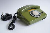 70er Vintage Post Telefon FeTAp 792 Wählscheibentelefon Retro grün 70s