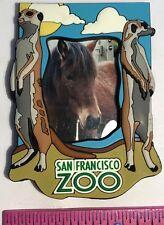 San Francisco Zoo Fridge Magnet Small Photograph Frame Meerkats On Border
