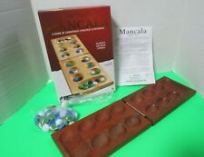 Game Gallery Solid Wood Mancala Game 48 Multi Color Stones Complete Age 6+