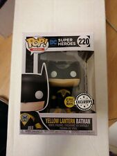 DC SUPER HEROES YELLOW LANTERN BATMAN 220 GLOWS IN THE DARK EXCLUSIVE FUNKO POP