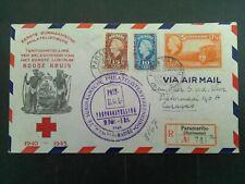 Suriname 228, LP 27/28 met 1e dag stempel op aanget brief naar Curacao