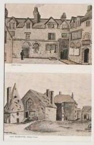 Devon postcard - Old Plymouth showing 2 Views (A3776)