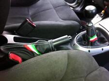 Cuffie leva cambio e freno Alfa Romeo GT vera pelle nera + trico