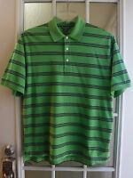 "Brooks Brothers Country Club Striped on Green Short Sleeve Polo Shirt ""Men M"""