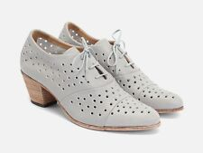 JOHN FLUEVOG Immortal Perfection AUDREY SHOES $299 Gray Perforated Oxford Vog 6