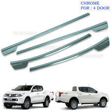 Chrome 4Dr Line Window Sill Cover Trim For Mitsubishi L200 Triton 2015 2016 2017