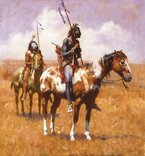 "HOWARD TERPNING   ""COUP STICKS & WAR PAINT""  2009  LMT. ED. CANVAS  MINT!  COA"
