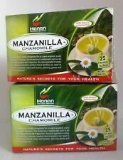 50 Tea bags Manzanilla (ChamomileTea bags)