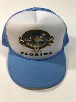 Vintage Mesh Trucker Mesh Mohr's FLORIDA Dolphin Sunset Sunrise Hat Cap NOS
