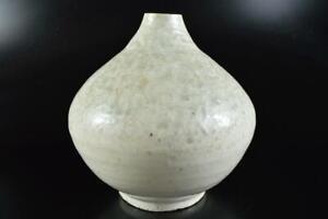 #9120: XF Korean Lý Dynasty White glaze FLOWER VASE Ikebana Tea Ceremony