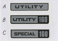 Victa UTILITY Silver Vintage Mower Repro Decals