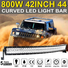 """42inch 800W Curved LED Light Bar 5D CREE Combo Spot Flood Offroad  Car ATV 45"""""""