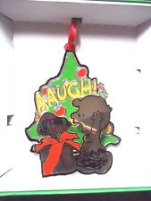 "Lunt Peanuts Collection3"" Ornament 3D Snoopy & Charlie Brown"