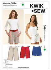 Kwik Sew Sewing Pattern 3614 Misses' Fitted Bermuda Shorts Various Lengths XS-XL
