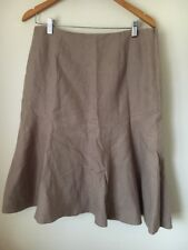 Skirt Size 12 Fenn Wright Manson Coffee Linen <T15235