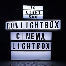 Nuevo cine Fila/Magnético/A4/Mini LED Sign Cine Hogar Boda Fiesta Mesa De Luz