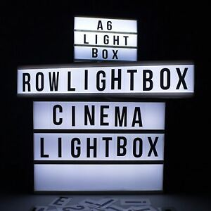 New Cinematic Row/Magnetic/A4/Mini Led Lightbox Sign Party Cinema Home Wedding