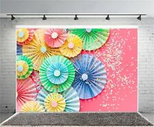 Umbrella Paper Flower Wall Photography Backdrop Studio 7x5ft Photo Backgrounds