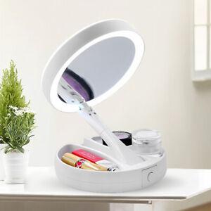 Kosmetikspiegel LED Schminkspiegel Beleuchtung 10-fach Vergrößerung Faltbar DE