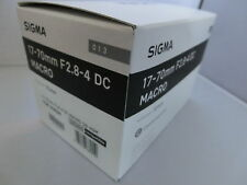 New SIGMA 17-70mm F2.8-4 DC MACRO HSM Contemporary Lens for Nikon F mount,APS-C